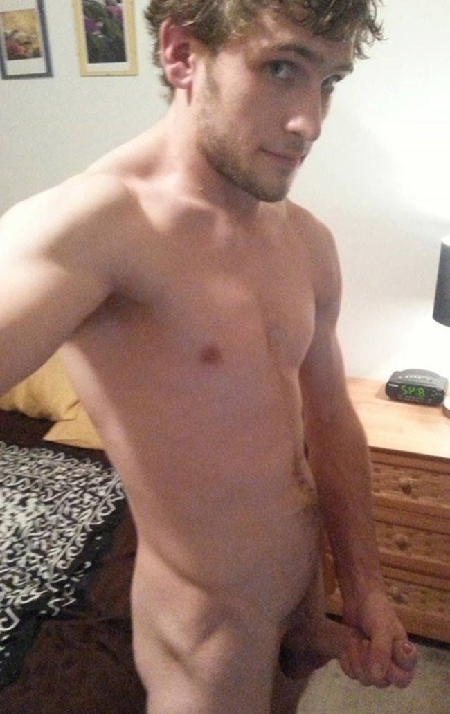 Nude Guy Masturbating