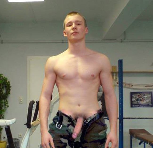 Army Boy With Big Cock