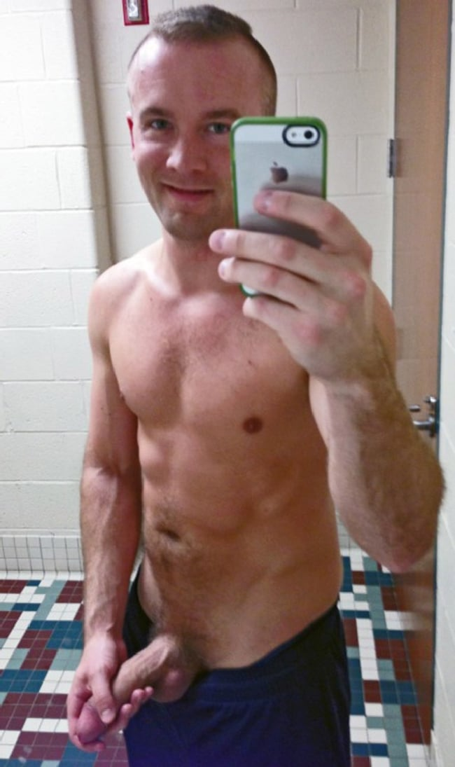Handsome Man With Uncut Cock
