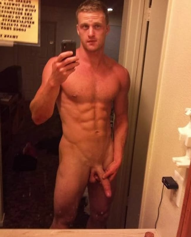 Hot Nude Muscle Man Holding His Cock - Nude Man Post