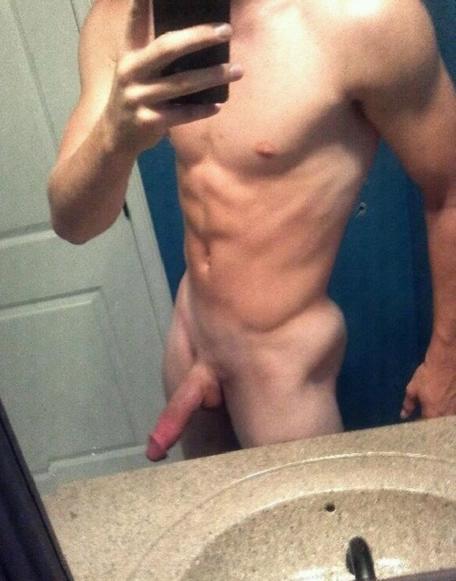 Nude Muscle Guy With Hard Cock