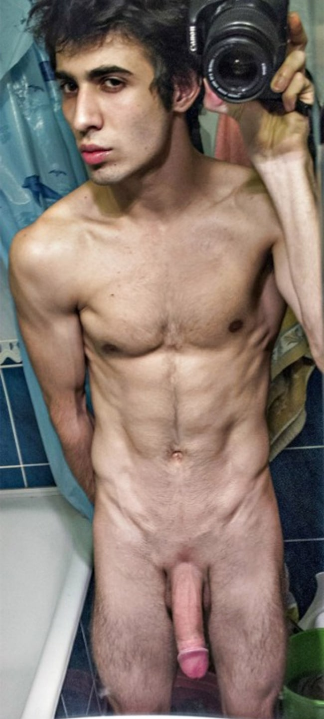 Nude Guy Cock slim nude guy with a large cut penis - nude man post